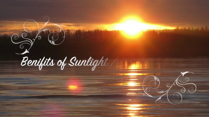 Sunlight benefits